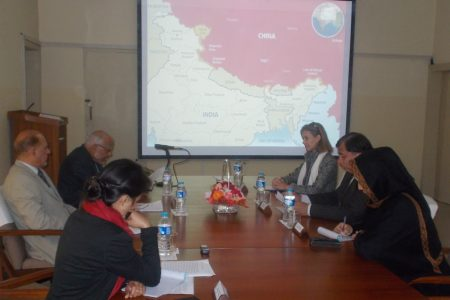 Visit of Ms. Laura Schuurmans, researcher/writer on Kashmir from Indonesia