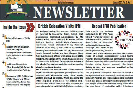 IPRI Newsletter January 2017