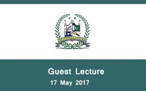 Guest Lecture 17 May 2017.